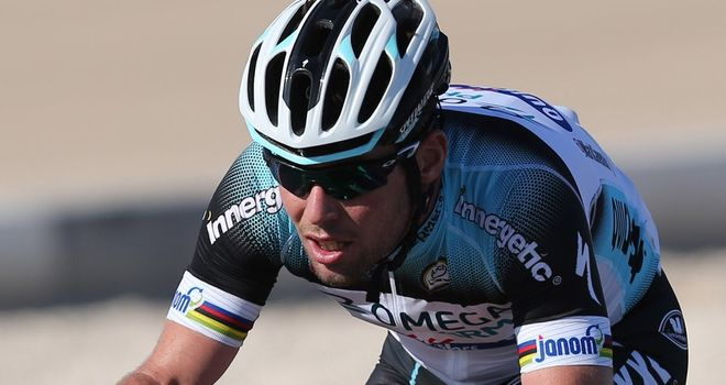 Mark Cavendish finished eighth in the Three Days of West Flanders prologue