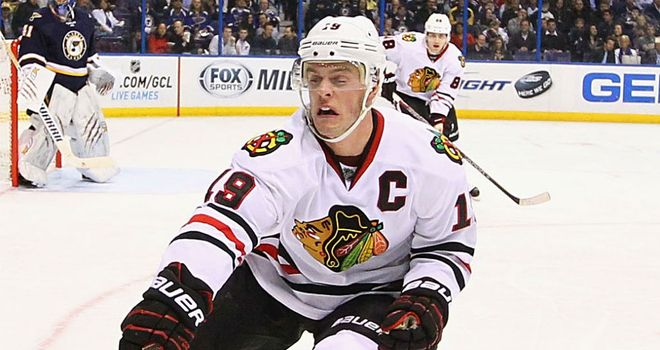 Jonathan Toews: Scored twice for the Blackhawks