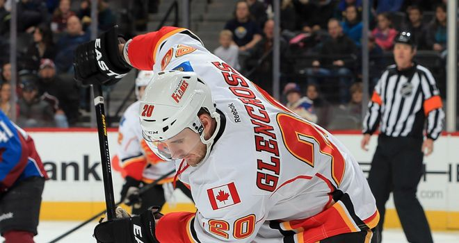 Curtis Glencross: helped Calgary Flames to sixth straight victory