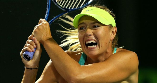 Maria Sharapova: Raced to a straight-sets win