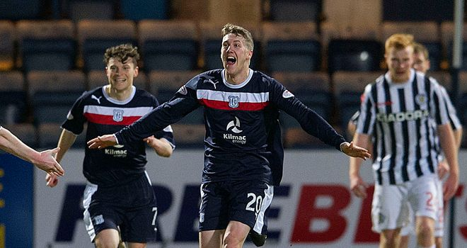 Jim McAlister: Secured Dundee's first win in four months against St Mirren at Dens Park