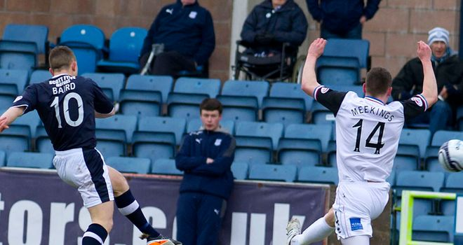 John Baird: Dundee striker on target against Inverness