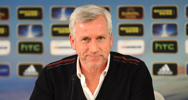 Alan Pardew: Delighted at European draw