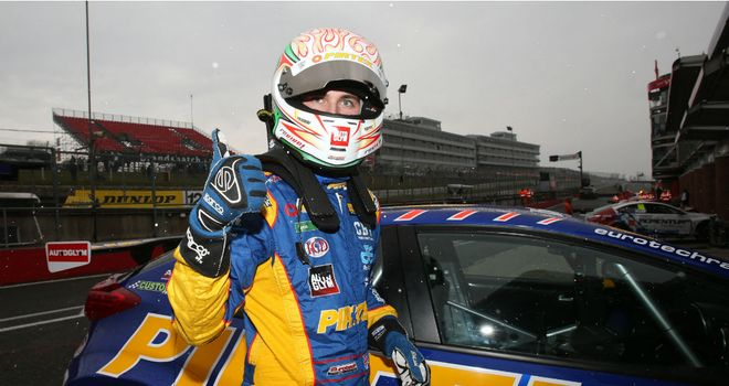 Andrew Jordan: Failed to podium but still clinched title at Brands (Image via BTCC)