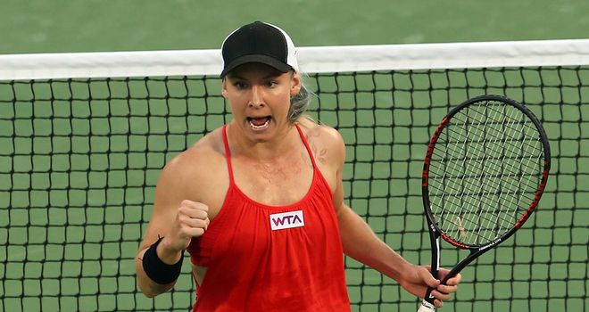 Bethanie Mattek-Sands: Sent out the defending champion