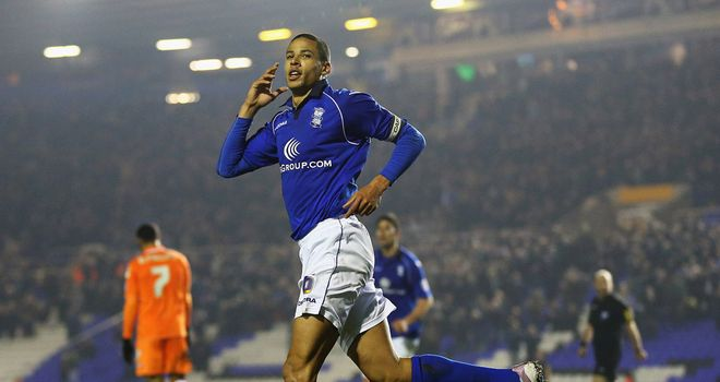 Curtis Davies: Celebrates his goal for Birmingham against Blackpool