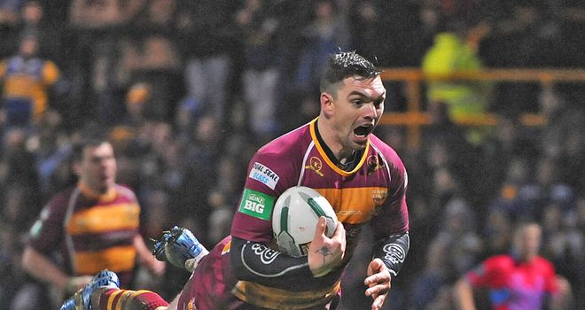 Flying high: Danny Brough is one of five Giants in the Dream Team
