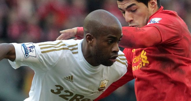 Dwight Tiendallli: Tussles with Liverpool's Luis Suarez last season