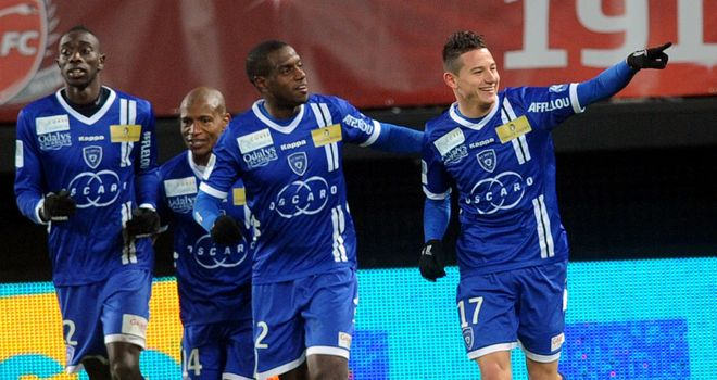 Celebration time for Bastia and Florian Thauvin