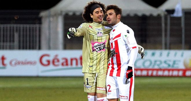 Ajaccio drew 1-1