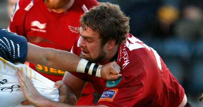 Johan Snyman: crossed for Scarlets