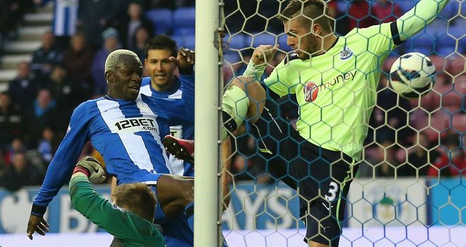 Arouna Kone: Scored late Wigan winner