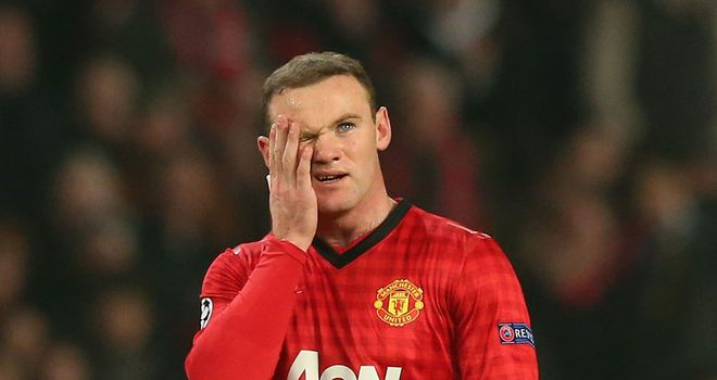 Wayne Rooney: Left out of the starting line-up against Real Madrid on Tuesday
