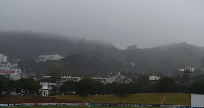The covers did not come off during a miserable day five in Wellington