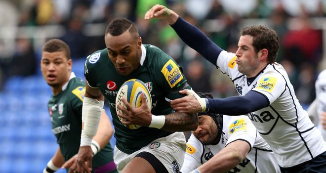 Sailosi Tagicakibau makes a break for London Irish