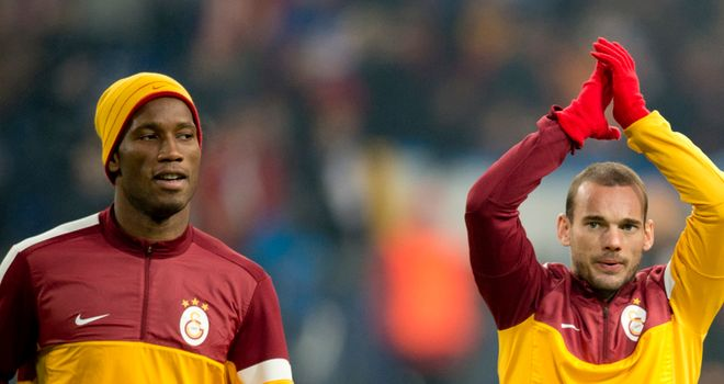 Didier Drogba and Wesley Sneijder: Set to come up against Jose Mourinho
