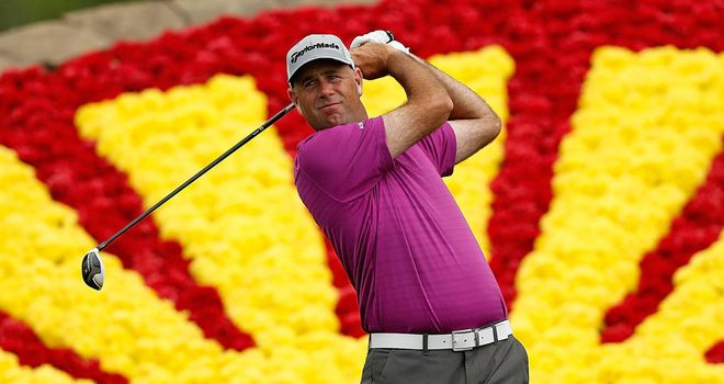 Stewart Cink: fired a four-under par in the third round of the Shell Houston Open on Saturday