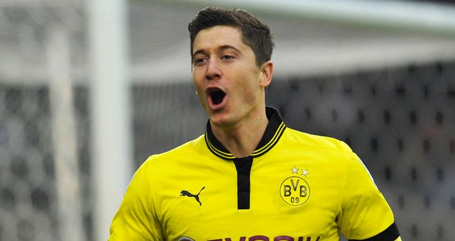 Robert Lewandowski scored Dortmund's winner
