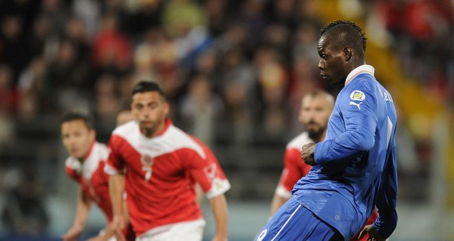 Mario Balotelli: Scored for Italy
