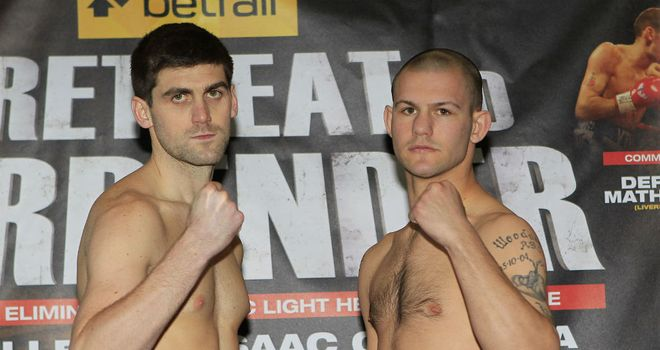 Rocky Fielding (L): In great physical shape for his clash with Wayne Reed (Pic Lawrence Lustig)