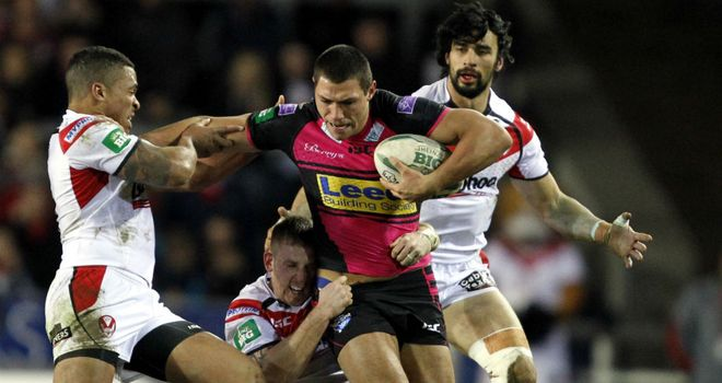 Ryan Hall: Scored two tries for Leeds