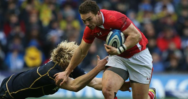 George North: Breaks for Wales against Scotland in the Six Nations
