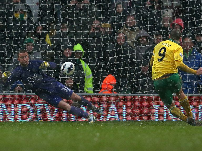 Artur Boruc saves Grant Holt's penalty