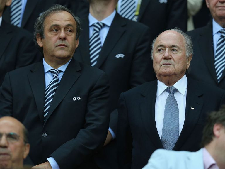 Platini and Blatter: Keen on winter switch for 2022 World Cup