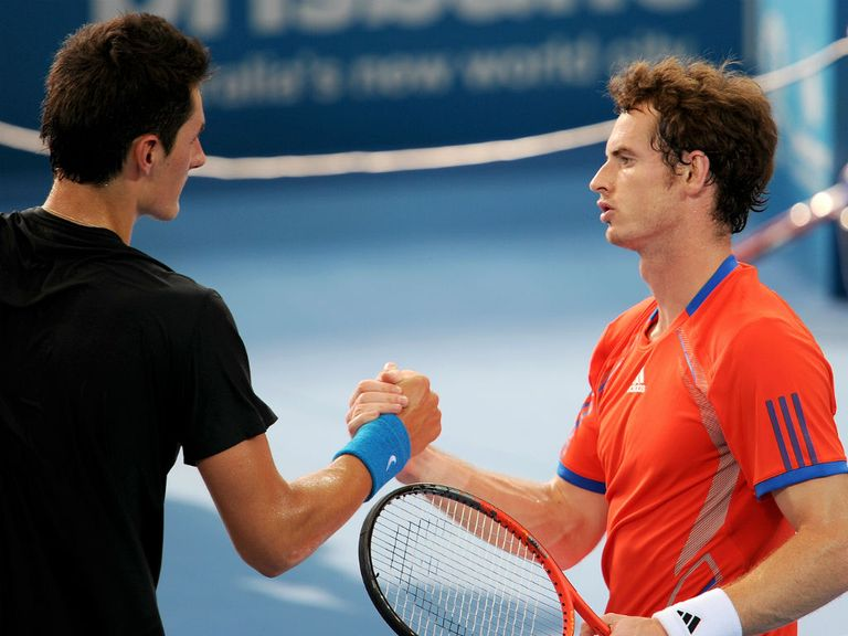 Murray (r) beat Tomic in their only previous meeting