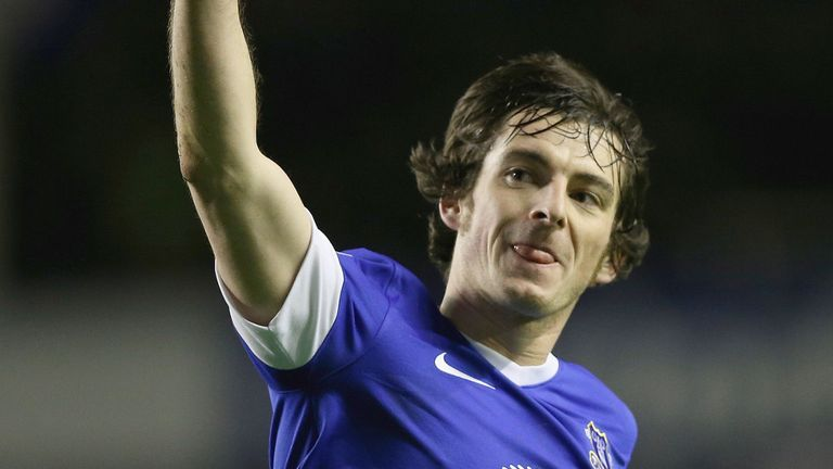 Leighton Baines makes his case for the Everton defence
