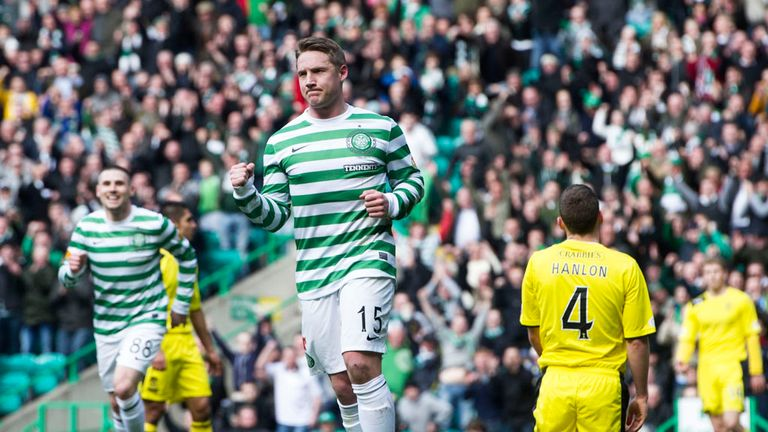 Kris Commons: Scored twice as Celtic moved closer to retaining the SPL title