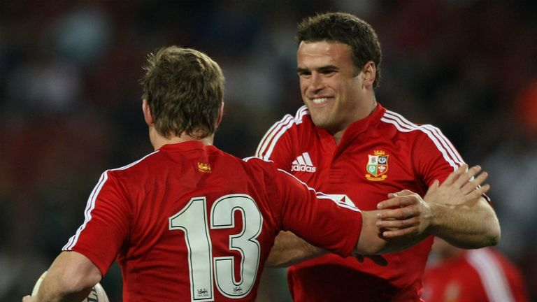 Jamie Roberts (R): Issued warning to Lions' team-mates, including Brian O'Driscoll (L)