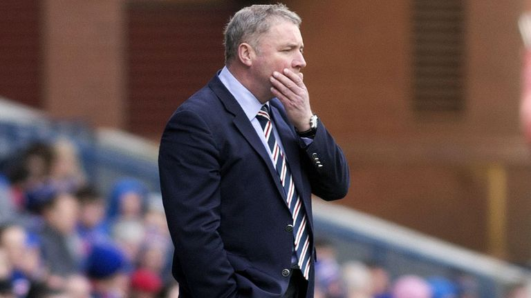Ally McCoist: Not happy after Rangers' loss to Peterhead