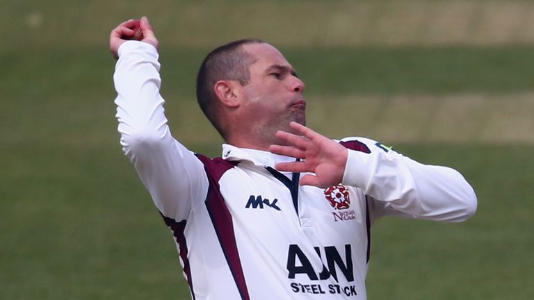 Andrew Hall: Northants all-rounder dismissed Kent opener Sam Northeast