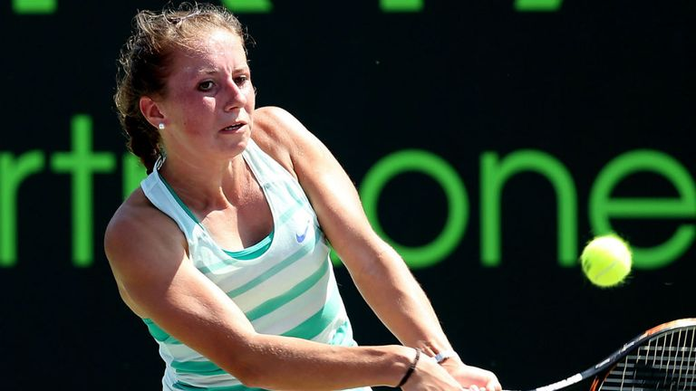 Annika Beck: Fought back from a set down to reach quarter-finals