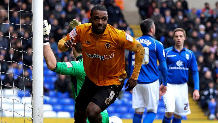 Sylvan Ebanks-Blake: Scored twice as Wolves beat Birmingham