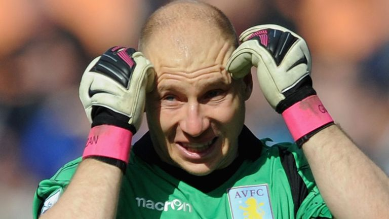 Brad Guzan: Gone almost a year without a Premier League clean sheet in the Aston Villa goal