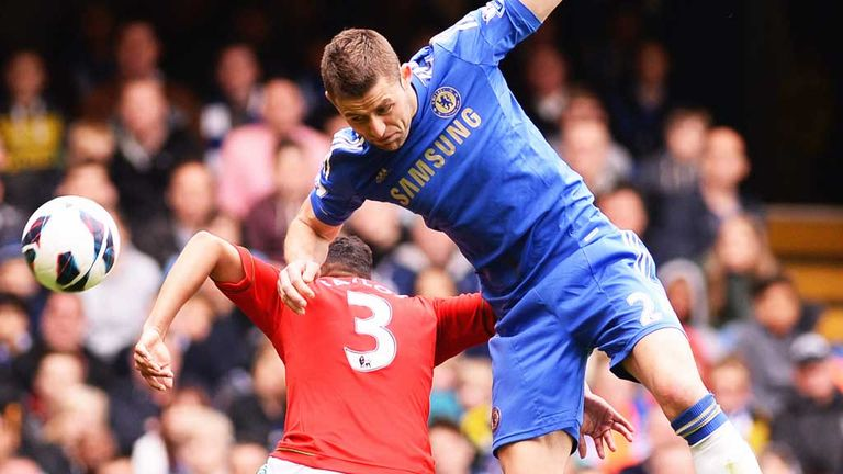 Gary Cahill: Chelsea defender came through his return against Swansea with no problems