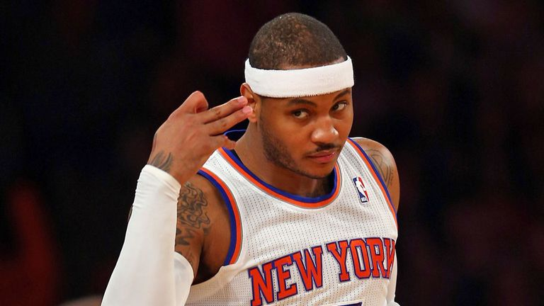 Carmelo Anthony: scored 40 points in Wednesday's victory against the Atlanta Hawks