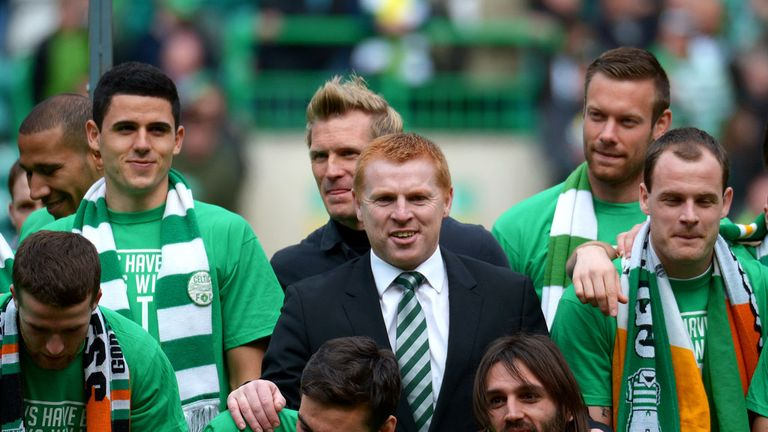 Neil Lennon (centre): Wants players to be given proper rest
