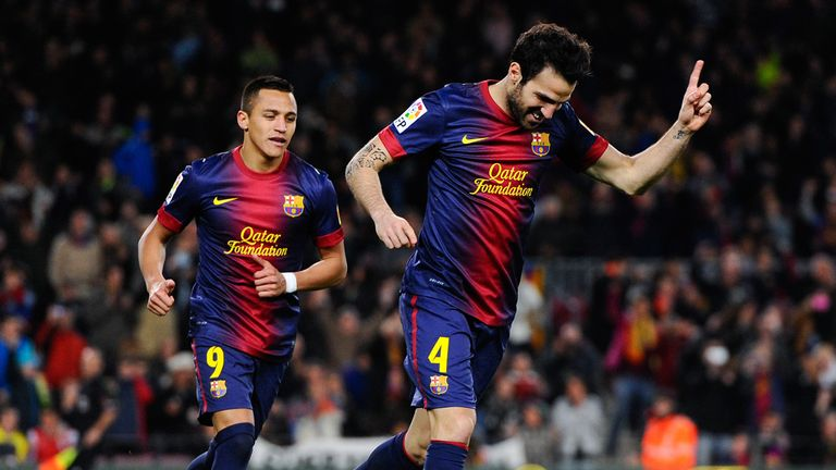 Cesc Fabregas: On target for Barcelona