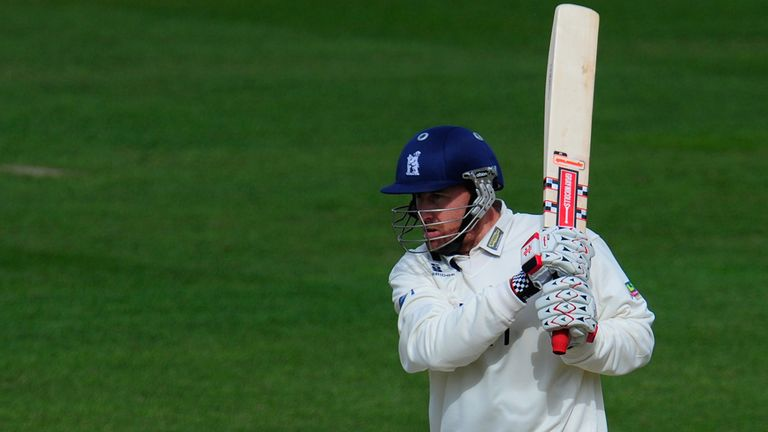 Clarke: Stood firm with the bat to secure the draw
