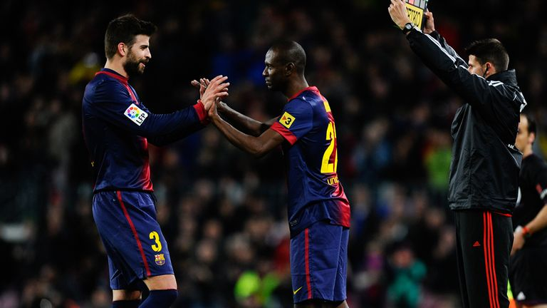 Eric Abidal: Back for Barcelona a year after undergoing a liver transplant