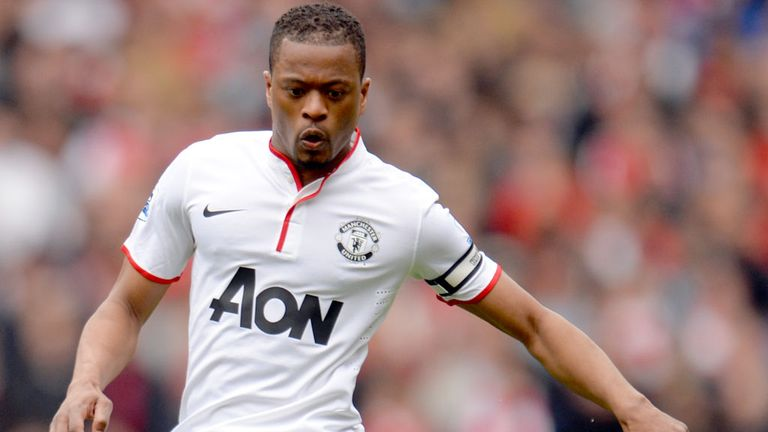 Patrice Evra: Happy that Robin van Persie scored against his former club