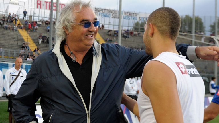 Flavio Briatore with QPR star Adel Taarabt