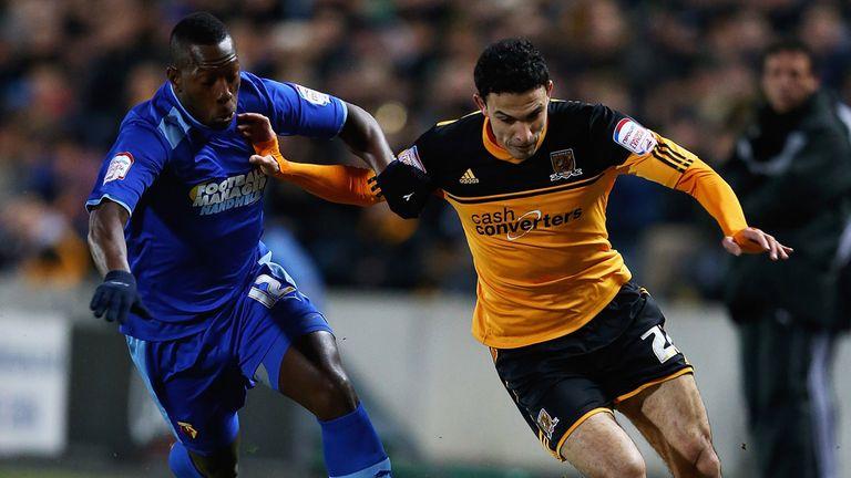 Lloyd Doyley (l): Watford defender eyeing a rare goal