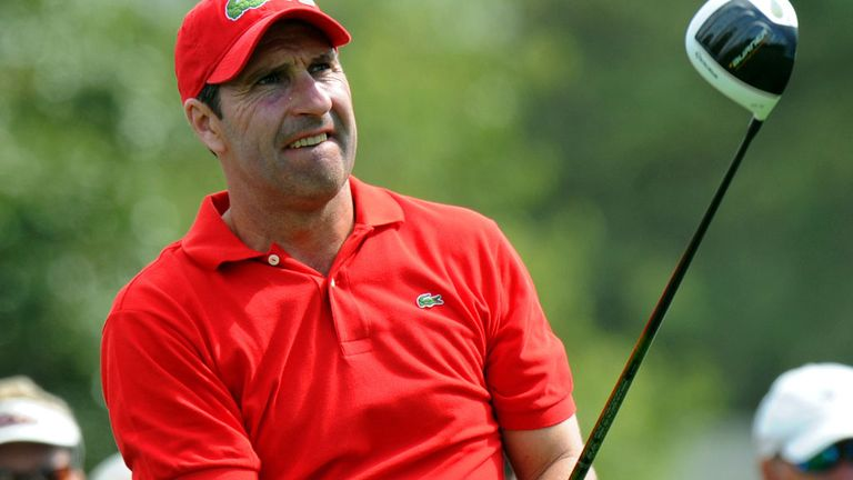 Jose Maria Olazabal: A bad shot by the Spaniard draws blood from a spectator at Augusta National