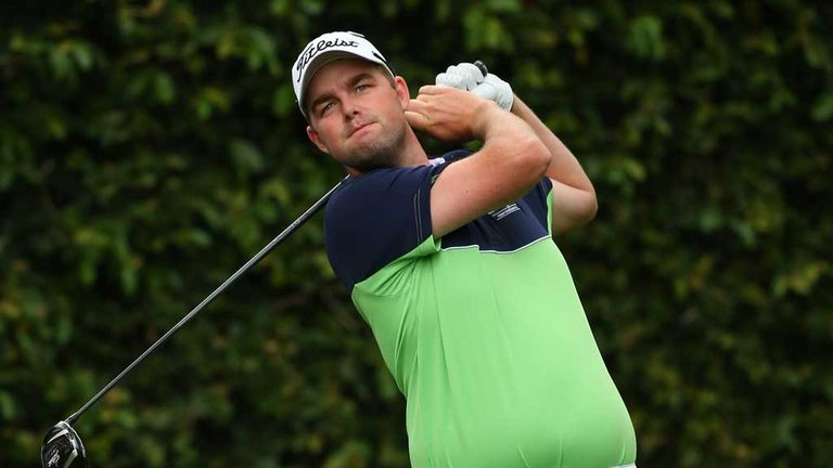 Leishman: leads the Masters field with Garcia after day one