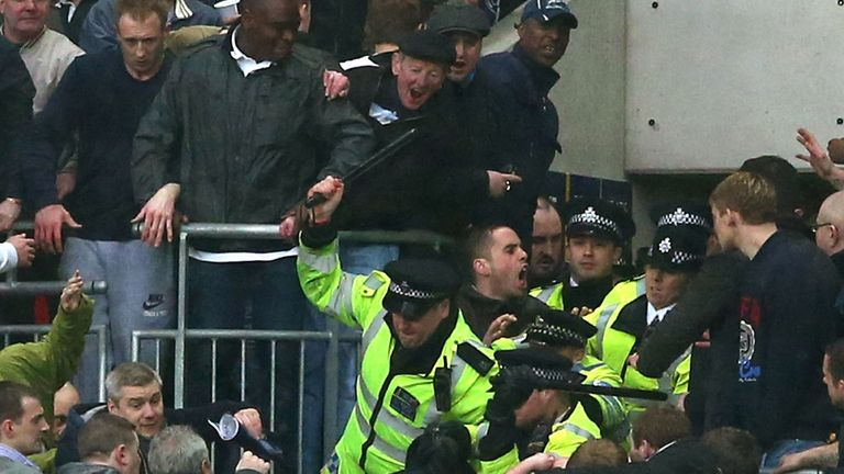Police intervene as trouble breaks out at Wembley
