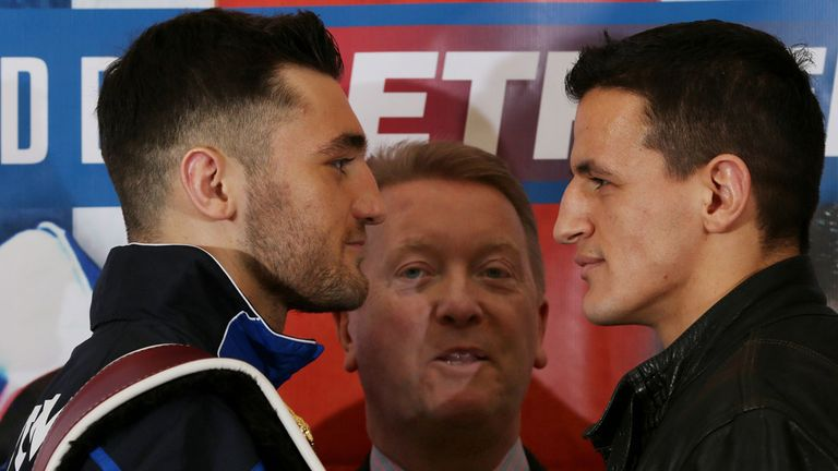 Nathan Cleverly and Robin Krasniqi face off ahead of Saturday's showdown